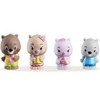 Klorofil Lot de 4 figurines - Famille Kastor