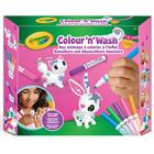 Color'n'Wash mes animaux à colorier à l'infini lapin et chat