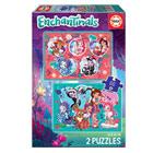 2 puzzles 100 pièces Enchantimals