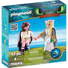 70045 - Playmobil Dragons 3 - Astrid et Harold