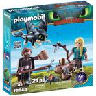 70040 - Playmobil Dragons 3 - Harold Astrid et bébé dragon
