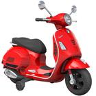 Porteur électrique moto Vespa rouge 6V