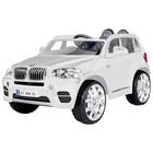 Véhicule électrique BMW X5 SUV 12V RC blanc avec télécommande