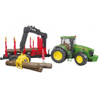 Tracteur John Deere 7930 avec remorque forestière