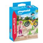 70061 - Playmobil Special Plus - Enfants avec vélo et rollers