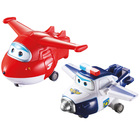 Super Wings Asst de 2 figurines-véhicules transformable