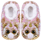 Chaussons small taille 30 - Peluche sequins Fantasia la licorne