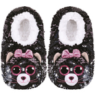 Chaussons medium taille 33 - Peluche sequins Kiki le chat