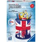 Puzzle 3D pot à crayons Union Jack 54 pièces