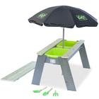 Table sable et eau Aksent avec parasol