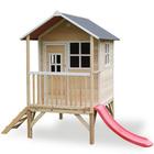 Maison en bois Loft 300 avec toboggan