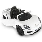 Véhicule électrique 12V Porsche 918 Spyder blanche avec télécommande