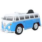 Véhicule électrique Combi Volkswagen T2 12V avec télécommande bleu