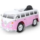 Véhicule électrique Combi Volkswagen T2 12V avec télécommande rose