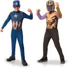 Avengers - Panoplies Thanos et Captain America 3-4 ans