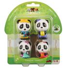 Klorofil - 4 figurines famille panda
