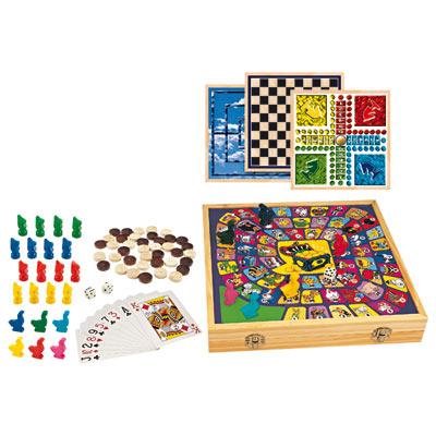 Mallette de 100 jeux en bois
