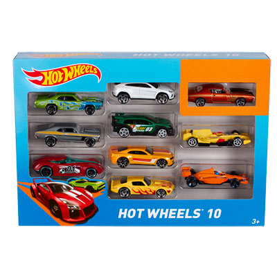 Coffret 10 Voitures Hot Wheels