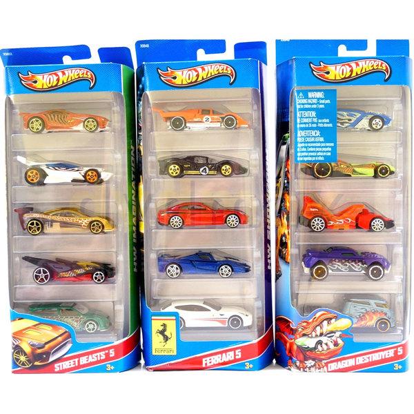 Coffret 5 voitures Hot Wheels