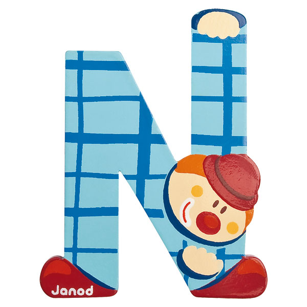 Lettre Clown N Janod : King Jouet, Décoration de la chambre Janod ...