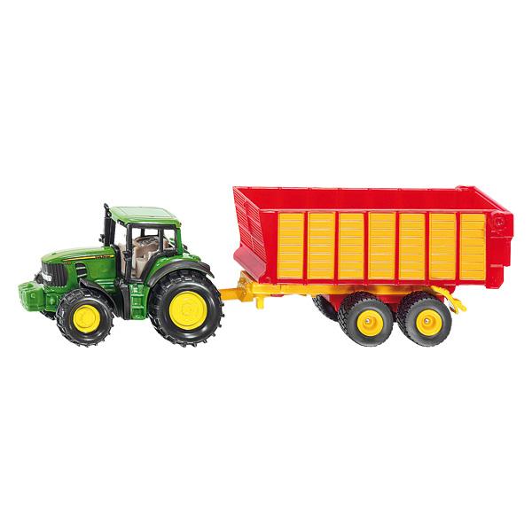 Tracteur John Deere Avec Remorque