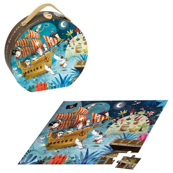 Valisette puzzle chasse au trésor 36 pièces