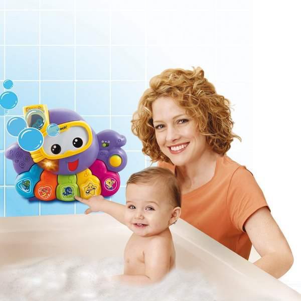 Jouet de bain - Aquabulles ma pieuvre orchestre