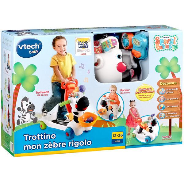 Porteur - Trottino mon zèbre rigolo