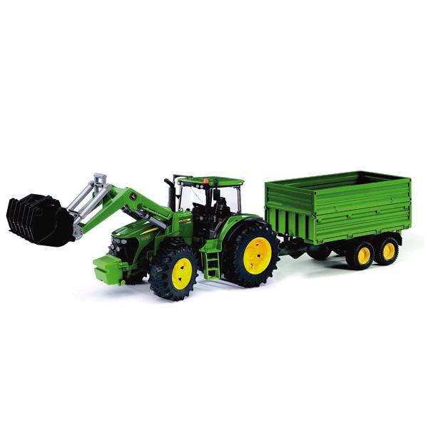 Tracteur John Deere 7930 avec Fourche et Remorque