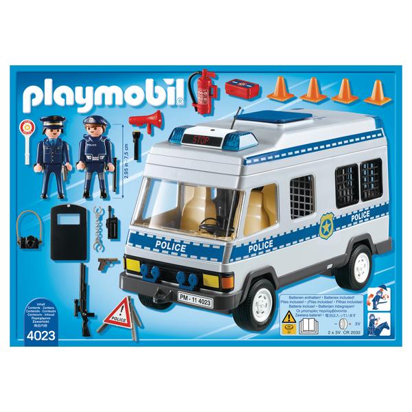 4023- Playmobil City Action Fourgon équipé et policiers