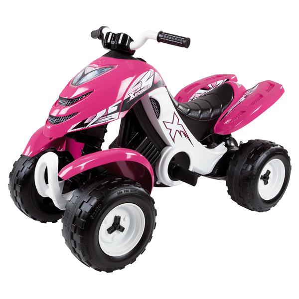 Quad électronique x power carbone - 2 roues motrices - autonomie batterie 2 heures - 6v