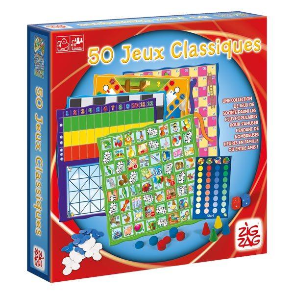 Coffret 50 jeux classique zig zag jeux action