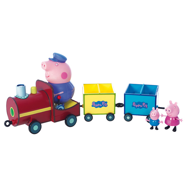 Train Peppa + 3 personnages