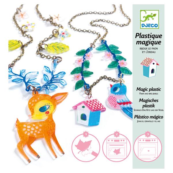 Bijoux en plastique magique le Faon et l