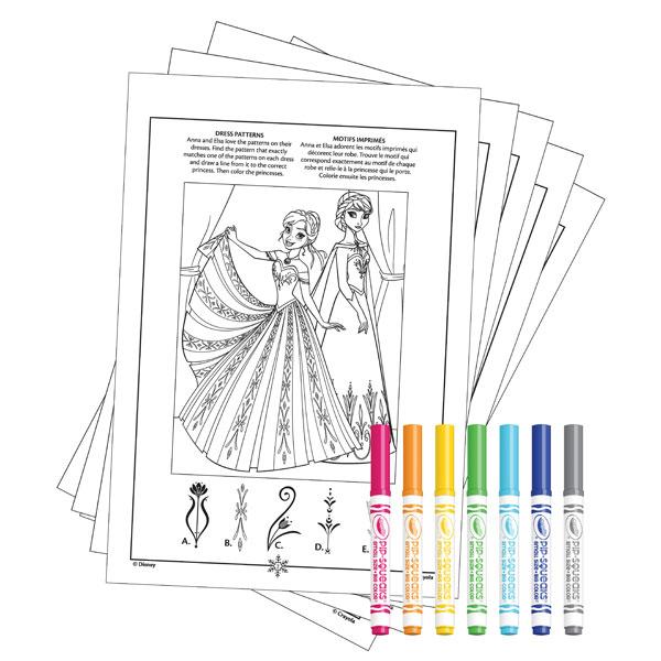 Album Coloriage Et Activités La Reine Des Neiges Crayola King