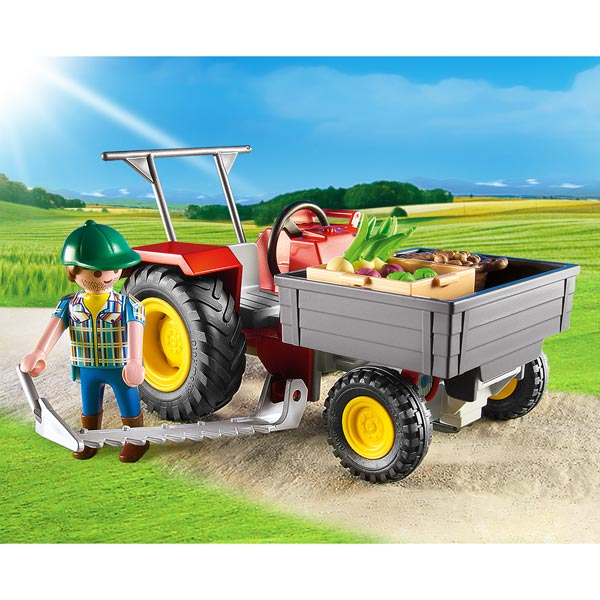 6131-Fermier avec faucheuse - Playmobil Country