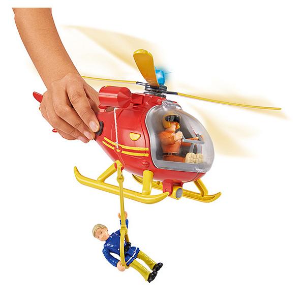 Sam le pompier - océan hélicoptère - + 4 accessoires - + 1 figurine incluse