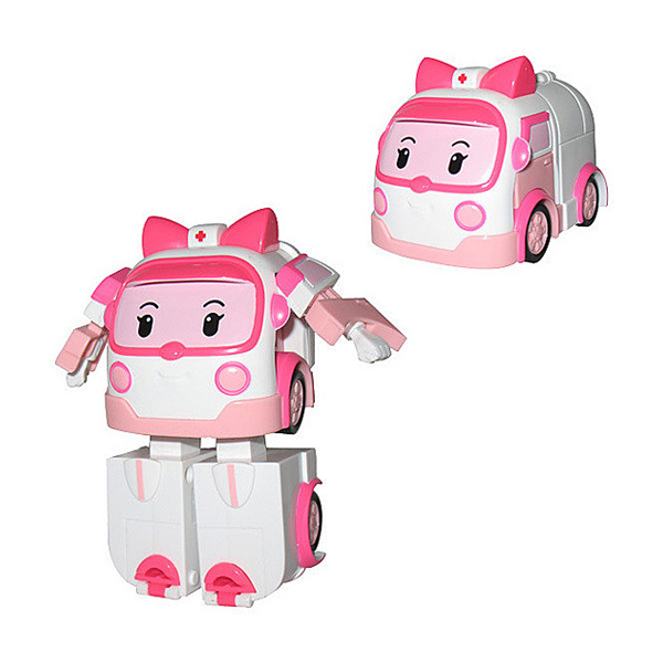 Robocar Poli - Mallette et figurine Ambre