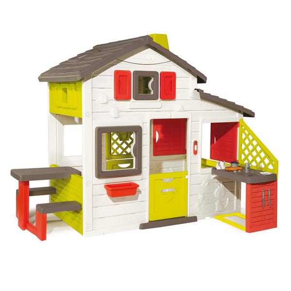 Maison friends house + cuisine été Smoby : King Jouet, Maisons ...