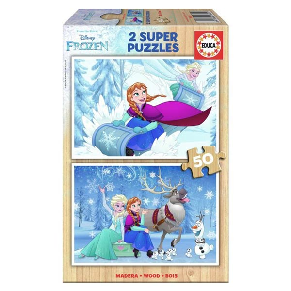 2 puzzles de 50 pièces Reine des Neiges