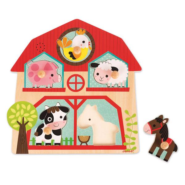 Puzzle musical copains de la ferme