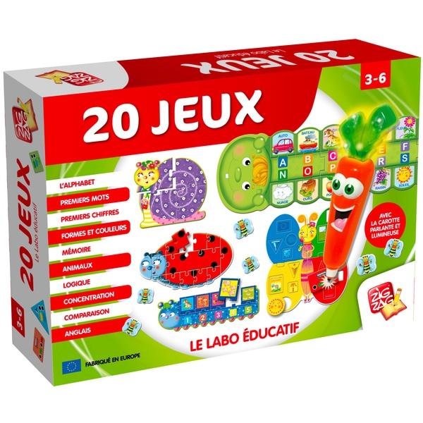 Labo éducatif 20 jeux carotte magique