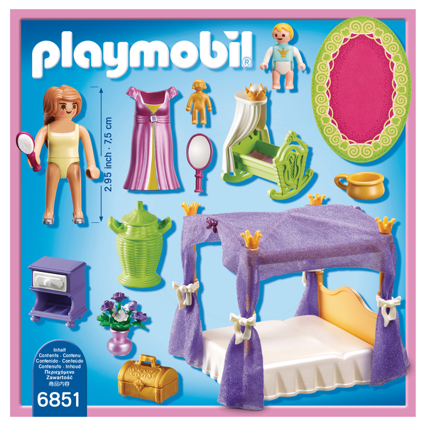 6851-Chambre de la Reine avec lit à baldaquin - Playmobil Princess ...