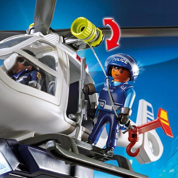 6921-Playmobil City Action-Hélicoptère de Police avec projecteur