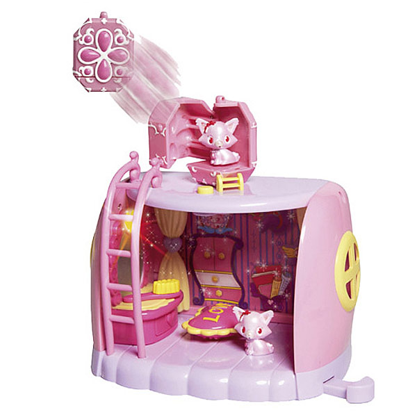 Jewel Pet Playset + Jewelcharm avec figurine Jewel Chat rose Garnet