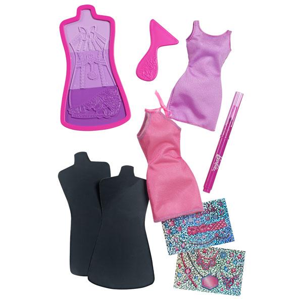 Atelier Mode de Barbie Robes Rose et Violette