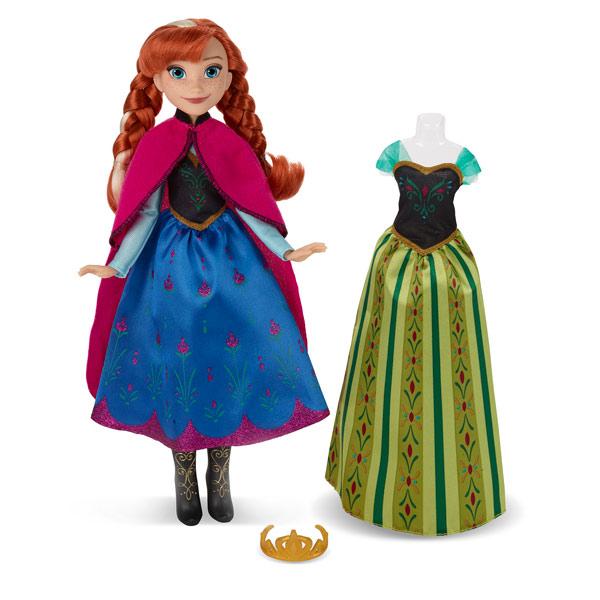 La Reine des Neiges poupée Anna et 2 tenues
