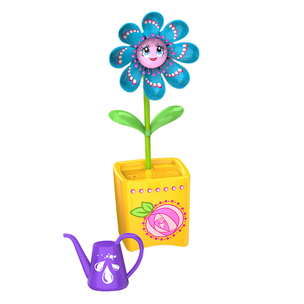 Fleur Magic Bloom bleu et jaune