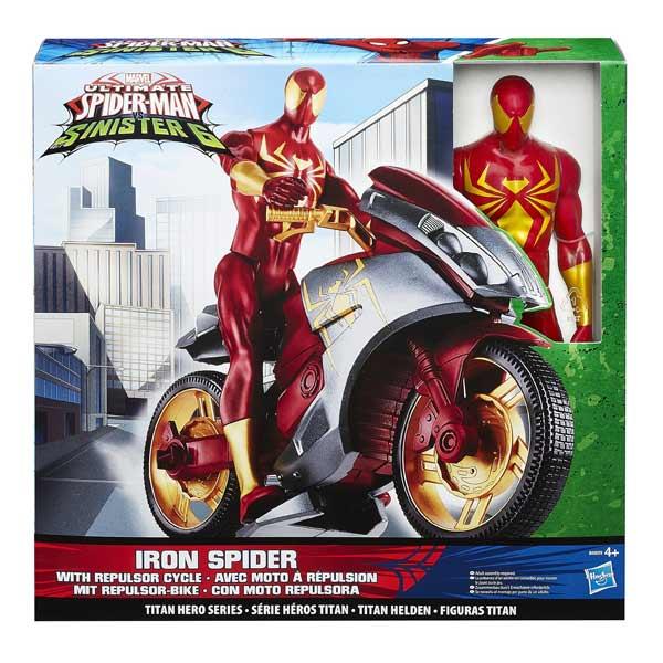 Spiderman figurine 30 cm et son véhicule Iron Spider