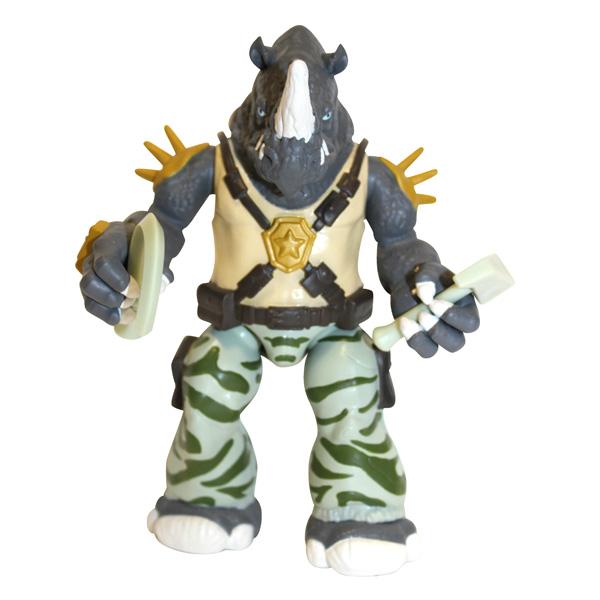 Tortue Ninja mutations figurine 12cm Rocksteady + bras tmnt